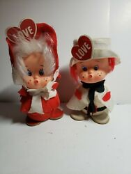 Creative creations Valentines Boy And Girl Dolls With Big Red Hearts and freckle $20.00