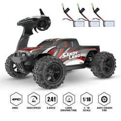 9300E RC Car High Speed Car 1:18 Scale 30 MPH 4WD Off Road Trucks 3 Battery New $79.99