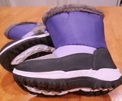 Mountain Warehouse Kids Lined Snow Boots Girls Size 11 Purple New w Tags $14.00