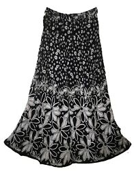 Indian Rayon Skirt Crinkle Ladies 8 Size Long Waist Dress Women Ethnic Boho For $19.99