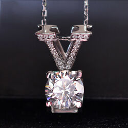 Gorgeous 925 Silver Necklace Pendant for Women White Sapphire Jewlery Gift $2.37