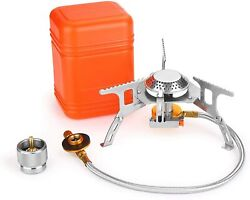 3700W Portable Backpacking Camping Gas Stove with Piezo Ignition Burner Case $21.99