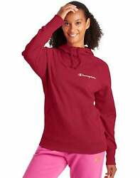 Champion Women#x27;s Powerblend Hoodie Sweatshirt Script Logo Athletics Scuba Hood $26.97