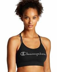 Champion Sports Bra The Sweatshirt Cami Script Logo Seamless Moderate Support $14.71