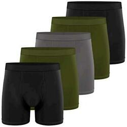Natural Feelings Boxer Briefs Mens Underwear Men Pack Soft Black Size Small 0Q $9.99