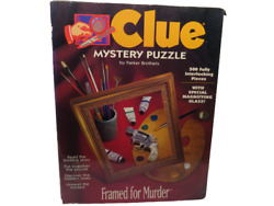 Clue Mystery Puzzle by Parker Brothers 500 Pc. Framed for Murder $12.95