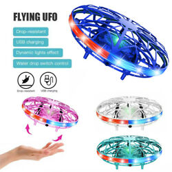 Mini UFO Drone LED Infrared Sensor Flying Toy Induction Aircraft Quadcopter USA $7.98