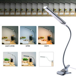 Dimmable 48 LED Light Flexible USB Clip On Table Lamp Reading Desk Lamp Silver $15.19