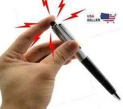Shocking Electric Pen Prank Shock Trick Novelty Metal Joke Gag Toy Gift Funny US $5.39