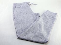New Champion Women French Terry Joggers Pant Athletic Sweatpants White Heather L $16.99