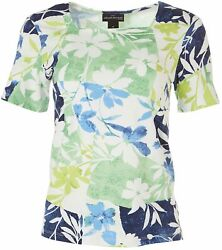 Alfred Dunner Womens Floral Square Neck Top $21.75