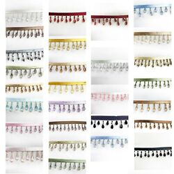 Perial Co Crystal Beaded Fringe Trim Sold by the Yard $2.95