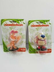 Ren And Stimpy Figurine Set Nickelodeon On Stand Collectable Toy New Sealed $4.39