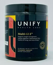 Unify Health Labs Multi GI 5 Supports Gut Health 6.2 oz Strawberry Lemonade NEW $59.95