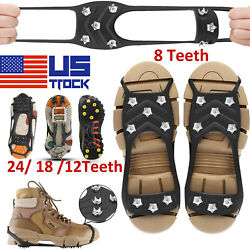 Ice Snow Anti Slip Spikes Grips Grippers Crampons Cleats For Hike Shoes Boots US $10.59