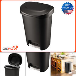 Rubbermaid 13 Gal. Black Step On Indoor Kitchen Trash Can $18.88