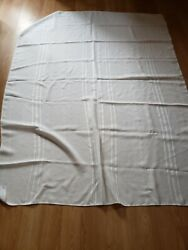 Vintage Table Cloth Cotton White 50 x 66 approx. $17.10