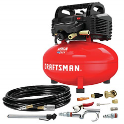 CRAFTSMAN Air Compressor 6 gallon Pancake Oil Free with 13 Piece Accessory $192.25