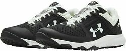 Under Armour UA Yard Trainer Men#x27;s Turf Baseball Shoes Black White 3021935 001 $39.99