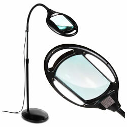 Brightech Pro LED Magnifying Flexible Adjustable Floor Lamp Black For Parts