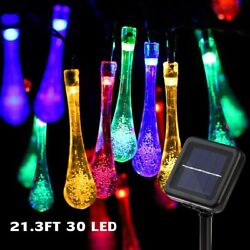 Outdoor Solar Powered 30 LED String Light Garden Patio Yard Landscape Lamp Party $11.95
