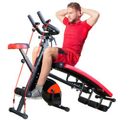 Combination Fitness Machine Indoor Cycling Bike Abdominal Trainers Home Workout $279.77