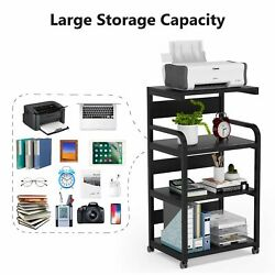 Modern Printer Cart Desk Machine Stand Storage Rack on Wheels for Home Office US $85.99