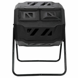 Composting Tumbler Dual Rotating Outdoor Garden Compost Bin Heavy Duty Capacity $63.35