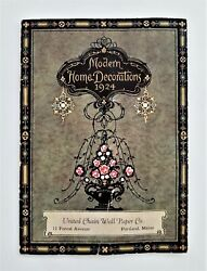 1924 antique Modern Home Decorations WALL PAPER CATALOG portland me home deco $34.95