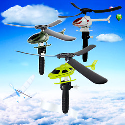 Parent child Educational Pull Wire Outdoor Helicopter Fly Plane For Kids $3.49