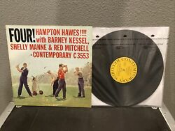 Hampton Hawes Four LP Contemporary MANNE MITCHELL C3553 Mono DG VPI CLEAN $39.95