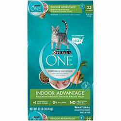 Purina ONE Hairball Weight Control Natural Dry Cat Food Indoor 22 lb. Bag $41.84