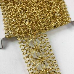Perial Co Elegant Vintage Antique Sequins Trim Sold by 10 Yards Silver and Gold $19.95