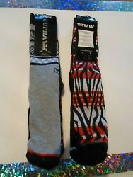 NWT 2 Three Packs Of Supra Men#x27;s Size 6 12 socks 6 Socks Total Skateboard $29.95