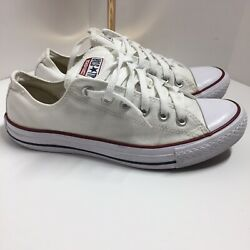 Converse All Star White Canvas Sneaker Shoes •Size Men 6.5 Women 8.5 * $33.00