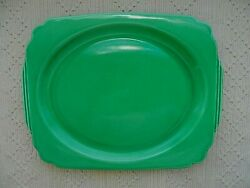 Homer Laughlin Riviera 13quot; platter original green 1938 42 oval well $45.00