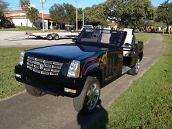 BAD ASS 2012 custom Cadillac Escalade 4 Passenger Golf Cart Car HARLEY PAINT WOW $5495.00