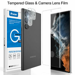 For Samsung Galaxy S21 Ultra Plus S20 FE Note 20 Tempered Glass Screen Protector $10.95