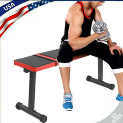 Indoor Power Bench Weight Flat Board Sit Up Abdominal Fitness Gym Equipment USA $60.44