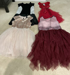 Lot of 4 Girls Party Dresses Size M L 10 12 $29.00