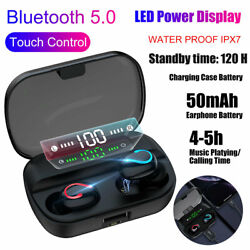 Bluetooth Earbuds for Iphone Samsung Android Wireless Earphone IPX7 WaterProof $11.49