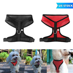 No Pull Mesh Soft Puppy Pet Dog Harness Adjustable Breathable Comfortable S M L $5.99