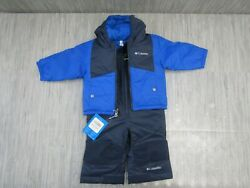 Columbia Infant Double Flake Snow Set Infant Size 6 12 Months Navy NEW $130.00