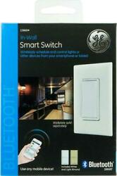 GE In Wall On Off Paddle Bluetooth Timer Smart Switch White or Almond 13869 $17.99