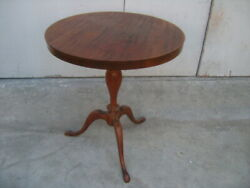 Vintage Round Wooden Table $75.00