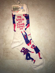 NWT Dress Socks Novelty Women Fun When My Song Comes On $13.00