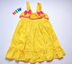 Toddler Kids Girls Clothes Size 6 NWT GoodLad Yellow Pineapple Dress $20.00