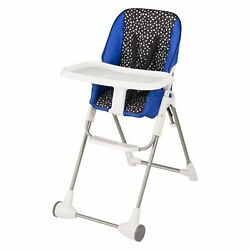 Evenflo Symmetry Flat Fold High Chair Hayden Dot Convenient self storing tray $98.13