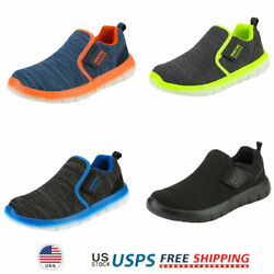 Girls Boys Kids Fashion Sneakers Running Shoes Slip on Comfort Loafers $22.07