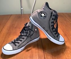 Converse Chuck Taylor All Star High Top Gray with dual side zippers mens size 9 $44.99